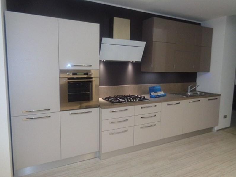 Arrital cucine Cucina Cucina mod ak01 arrital cucine laminato tortora e polimerico lucido