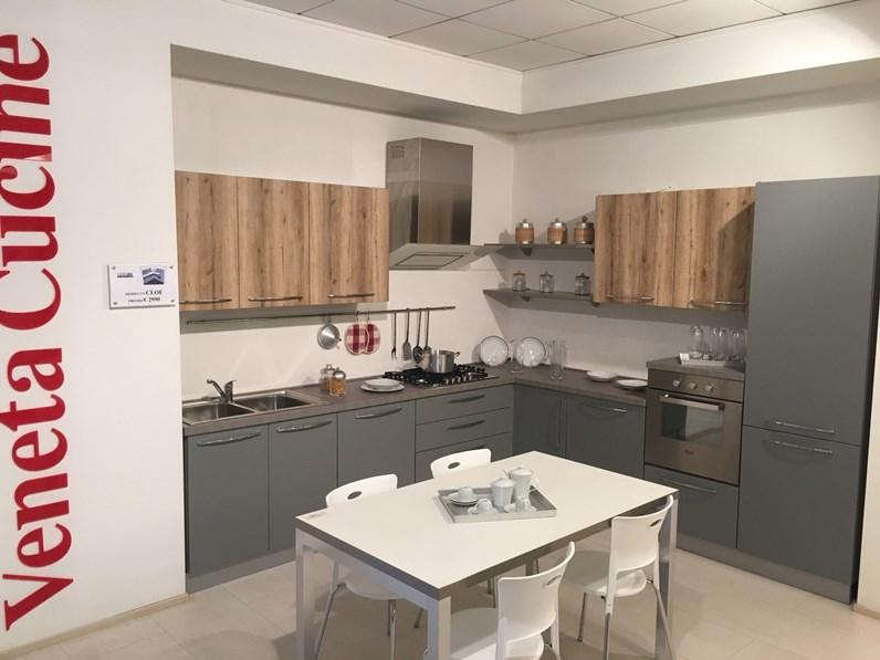 Cucina ad angolo moderna Cloe Net cucine a prezzo ribassato