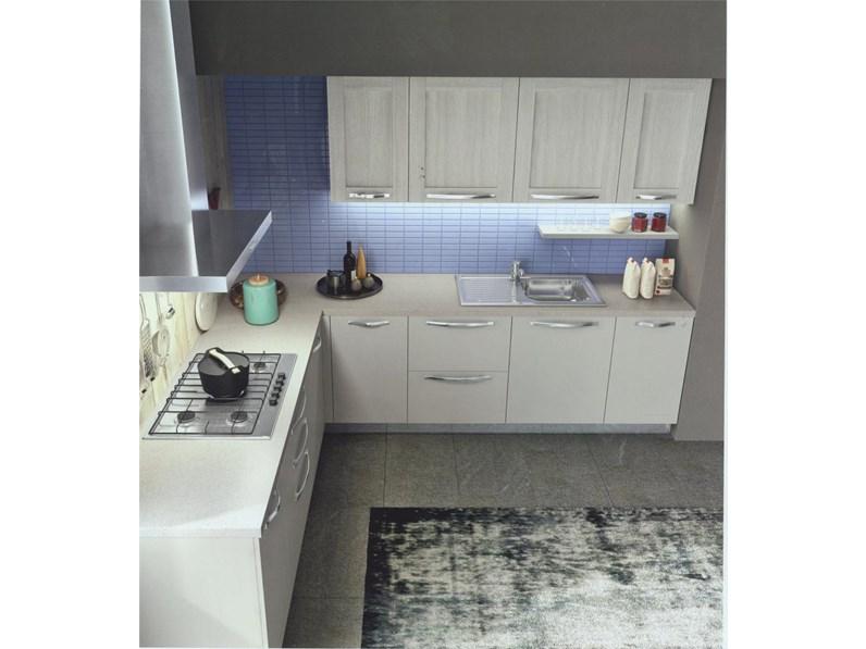 Cucina ad angolo moderna modello Cloe rovere provenza