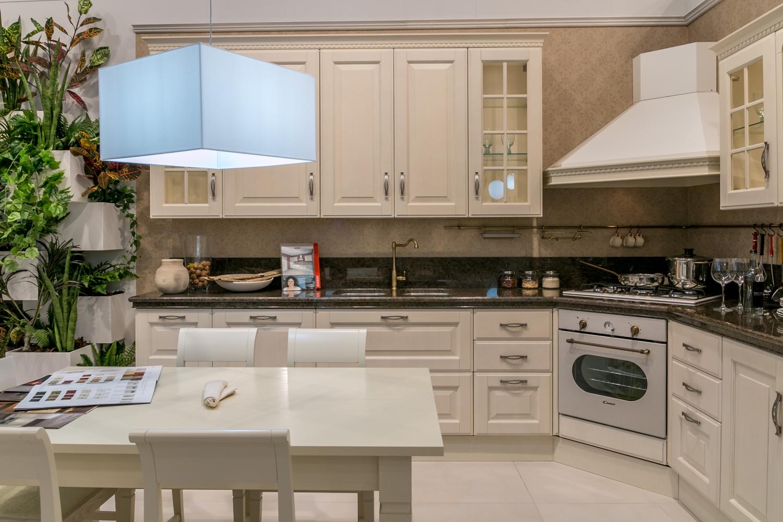 Cucina ad angolo Scavolini Baltimora piano granito