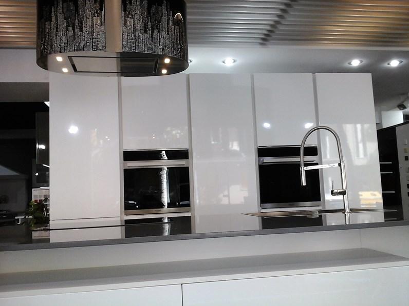 Cucina Atra Polimerico lucido bianco Polimerico Lucido