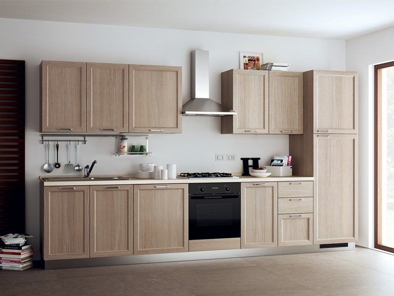 Cucina bianca country lineare Highland Scavolini in