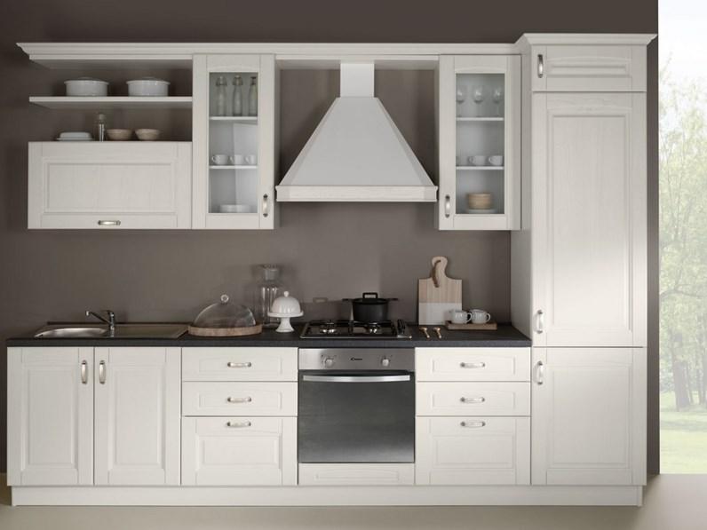 Cucina Bea Classico Legno Bianca 50