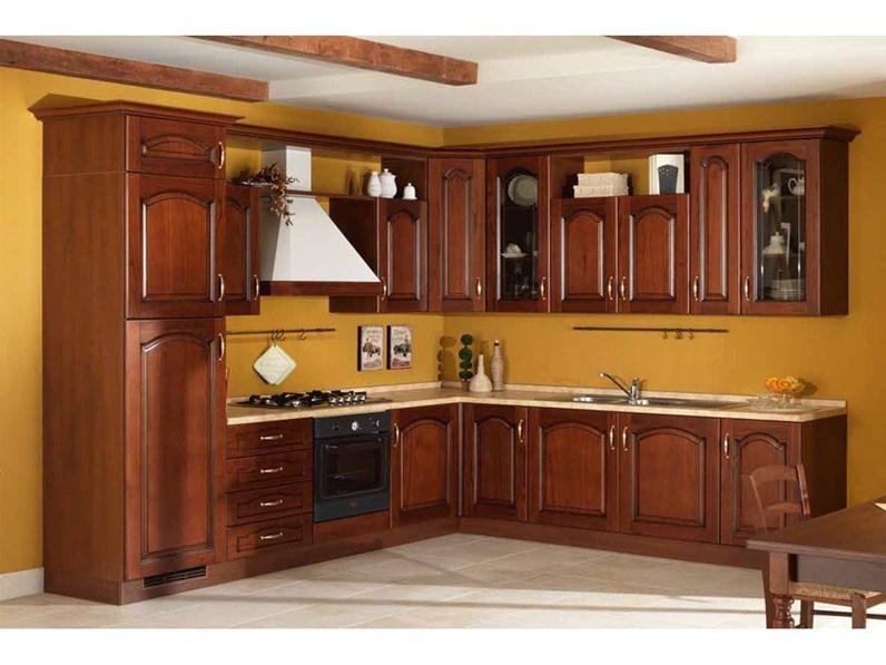 Consigli di tendenza per le tonalità del momento! Cucina Classica Noce Artigianale Ad Angolo Beatrice In Offerta Outlet