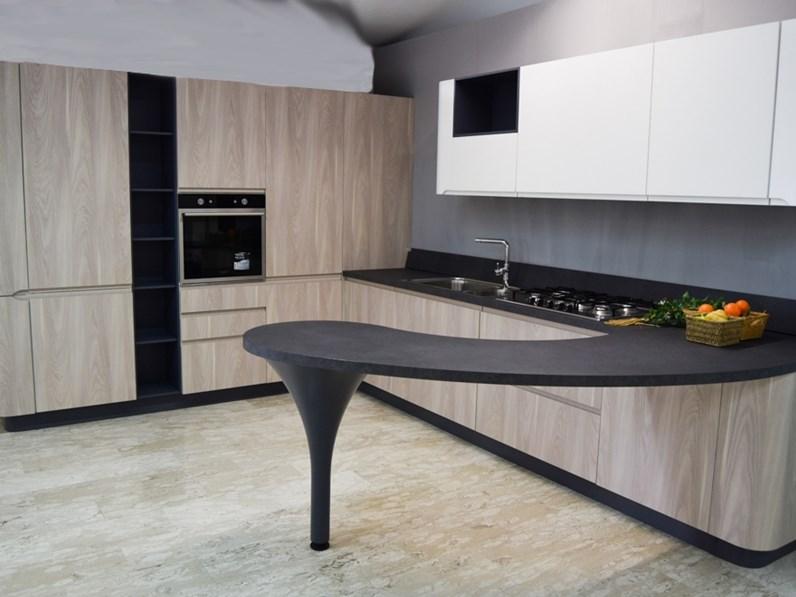 Cucina larice moderna con penisola 3a bring Stosa cucine