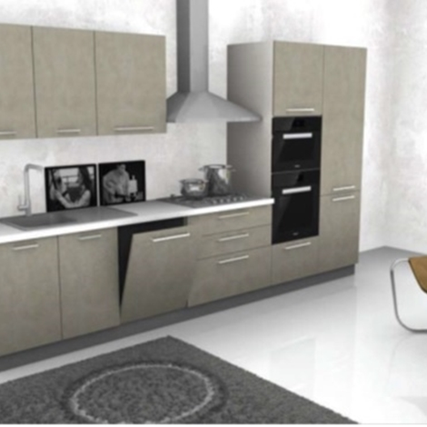 Cucina Lineare CM 360 COMPLETA DI ELETTRODOMESTICI REX  Cucine a prezzi scontati