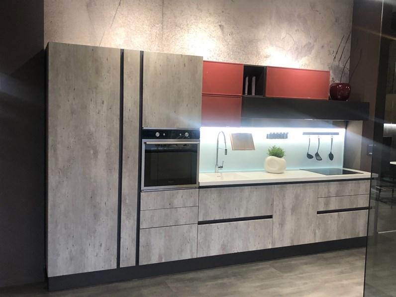 Cucina moderna effetto cemento a prezzo ribassato 54