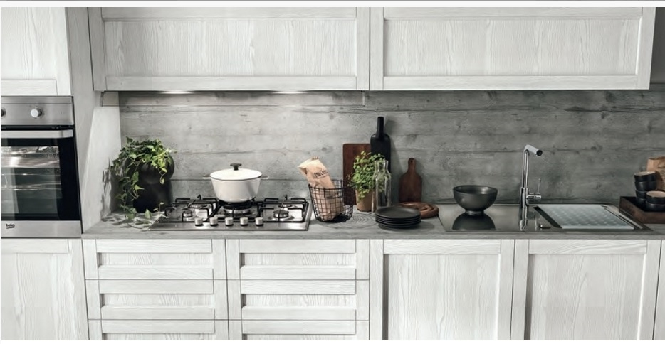 cucina lineare shabby vintage chic in offerta outlet