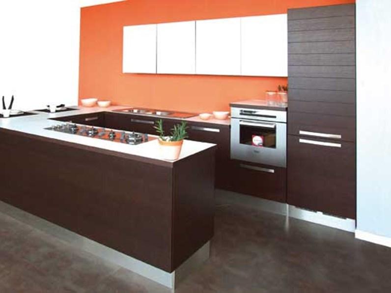 Cucina Lube Cucine Maura Moderna Legno rovere moro