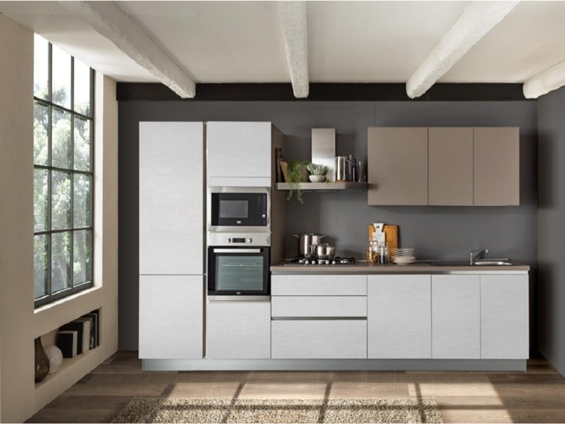 Cucina moderna bianca Net cucine lineare delizia in offerta