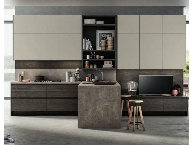 cucina moderna living con penisola moderna in offerta convenienza