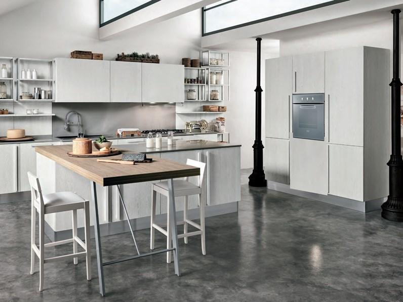 Cucina shabby chic Nuovi Mondi Cucine legno white in