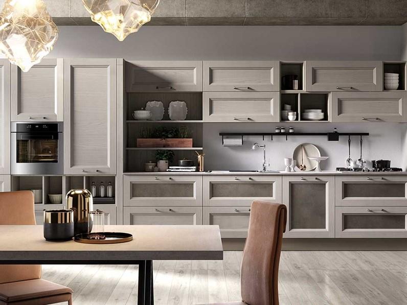 Cucina Nuovi mondi cucine design lineare tortora in legno