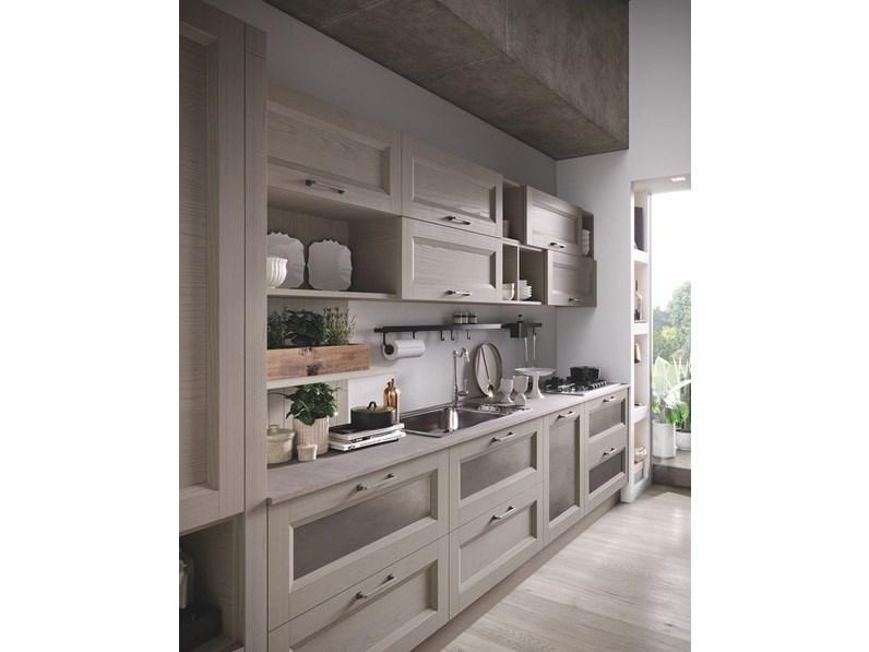Cucina Nuovi mondi cucine design lineare tortora in legno Cucina legno vintage sabbia con ante