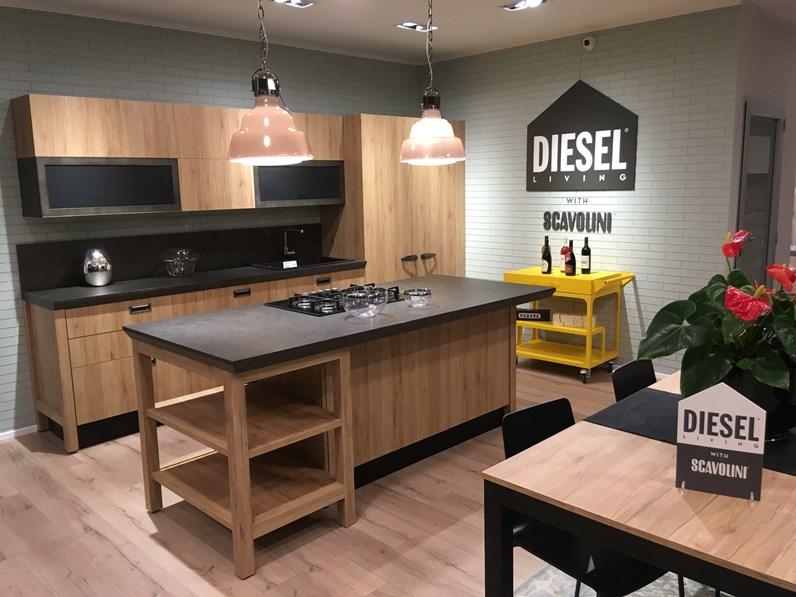 Cucina Scavolini Industrial DIESEL Rovere Materico