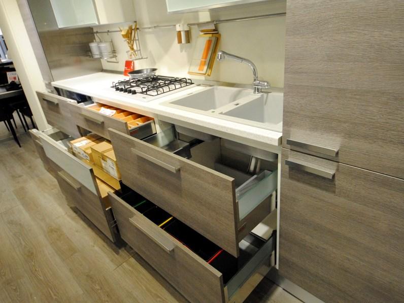 Cucina Scavolini Mood laminato legno grigio
