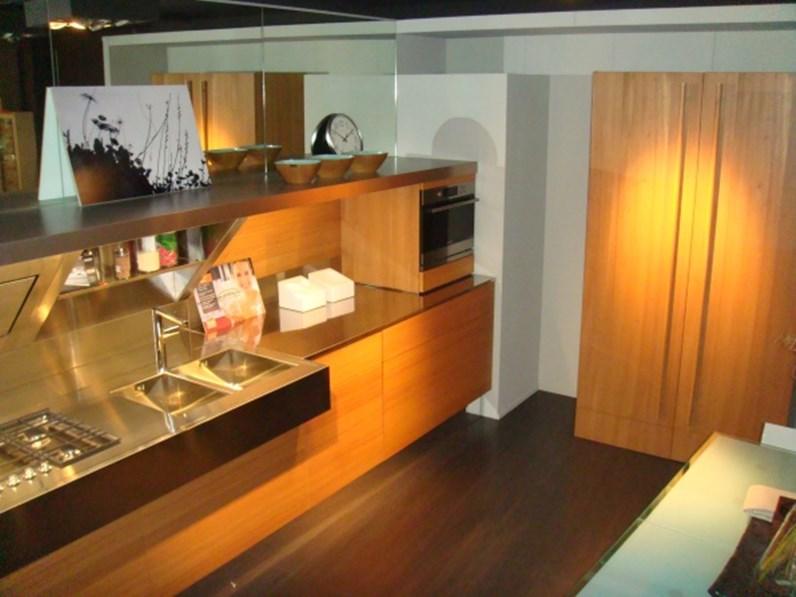 Cucina Snaidero Kube Moderna Legno di olmo