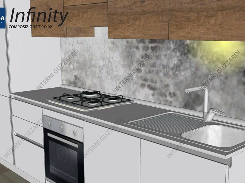 cucina Stosa Cucine Infinity composizione tipo 02