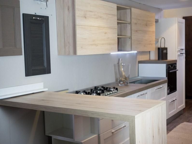 Cucine moderne bicolore idee per la progettazione di for Decorazioni cucine moderne