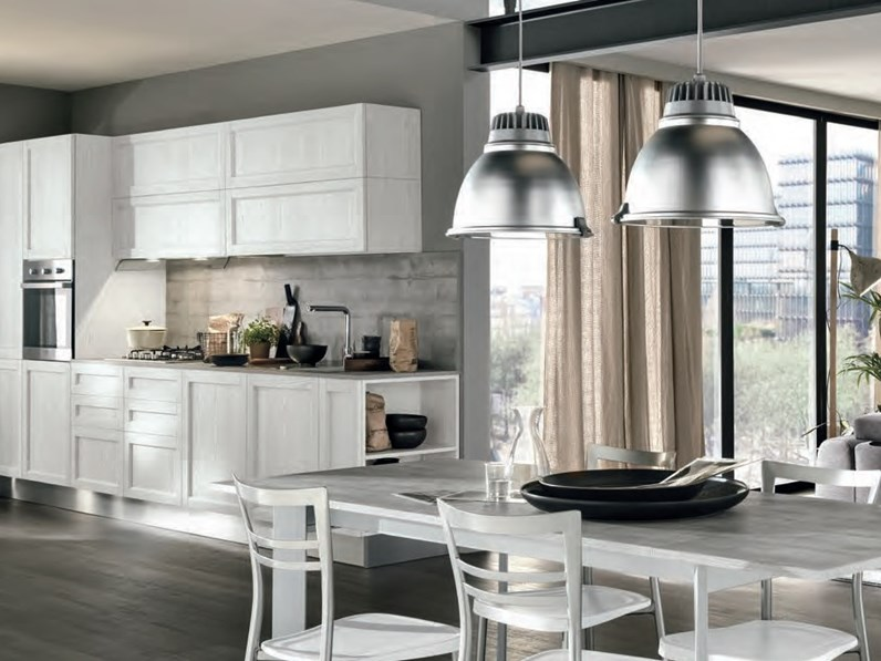 ne Cucina lineare shabby vintage chic in offerta outlet