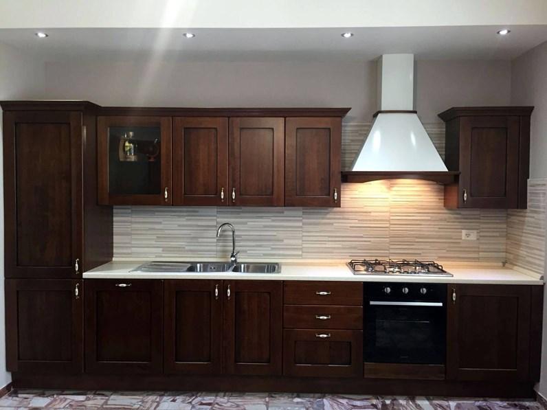 OFFERTA cucina lineare anta legno NOCE MISURA 390cm