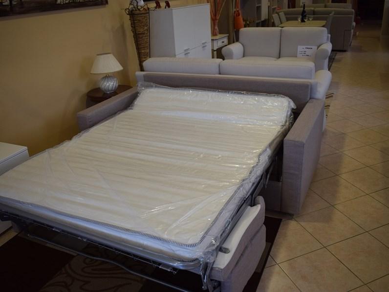 Divano a letto tre posti con rete e materasso