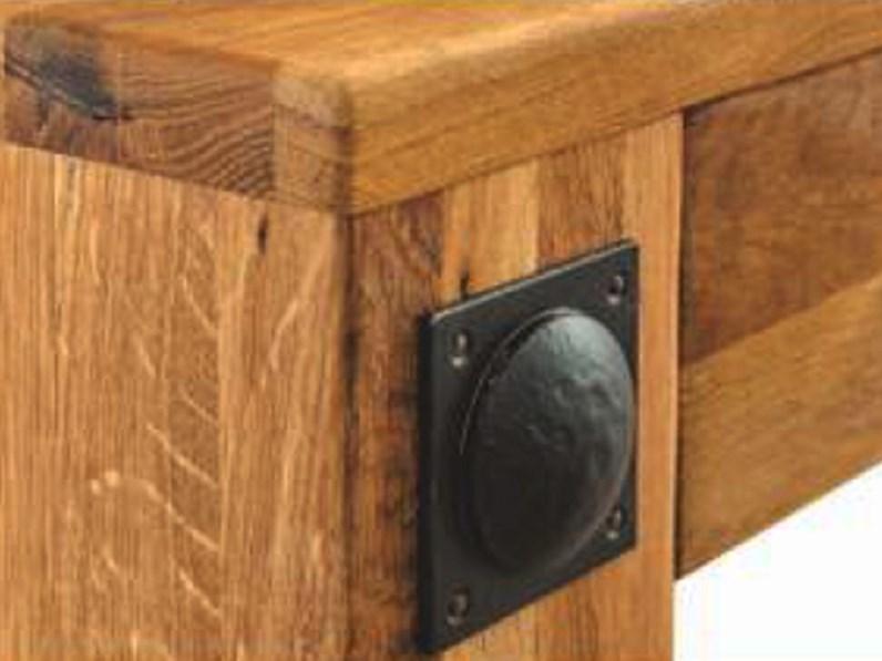 Panca in legno massello di rovere 230 cm sconto 47