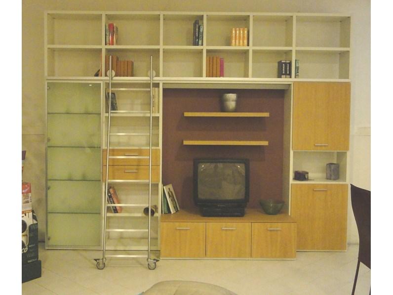 Libreria Libreria con scala Artigianale OFFERTA OUTLET
