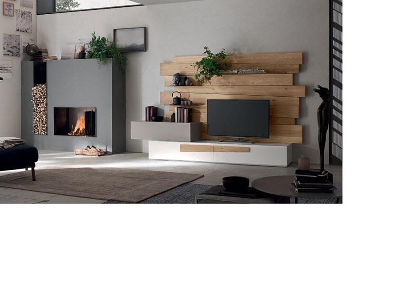Porta tv Design rovere Maronese in legno in Offerta Outlet