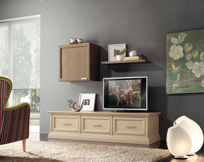 Soggiorno mobile porta TV in legno style classico  Soggiorni a prezzi scontati