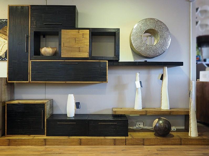Soggiorno Nuovi Mondi Cucine Parete soggiorno cm 300 legno