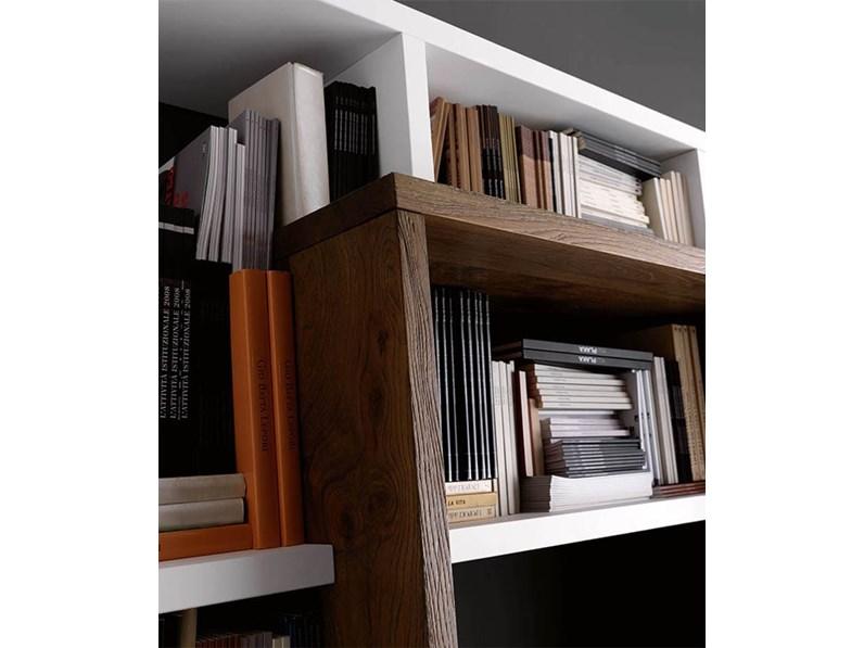 Soggiorno Pacema Soggiorno di legno Legno Librerie Moderno
