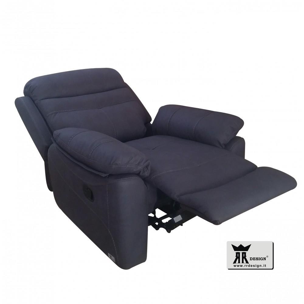 Divano relax motorizzato reclinabile tessuto della linea RR DESIGN