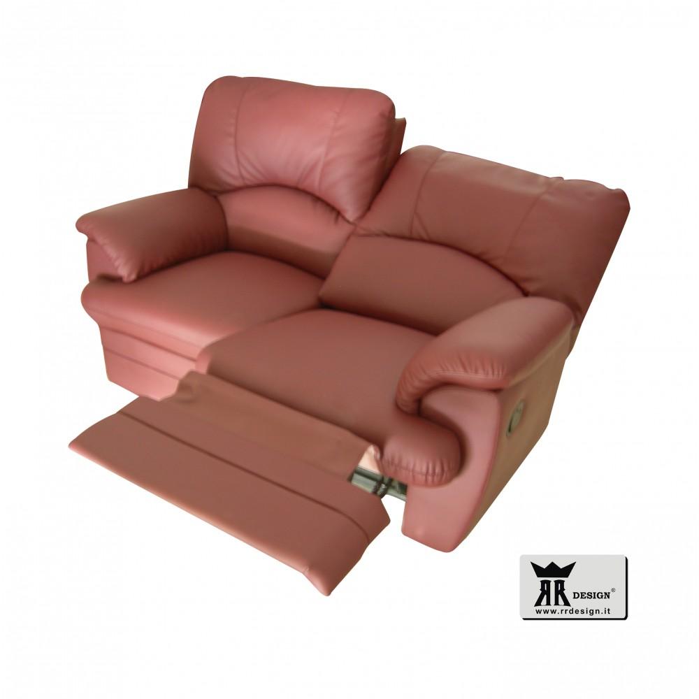 Divano relax manuale con 2 recliner tessuto della linea RR