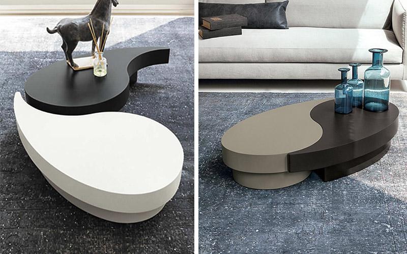 Tavolino da salotto bicolore Tao  Outlet del mobile