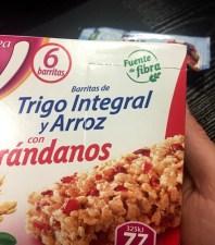 Productos con azúcar oculto barritas de cereales