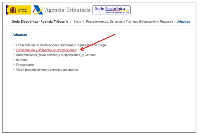 gestión del Dua Agencia Tributaria1