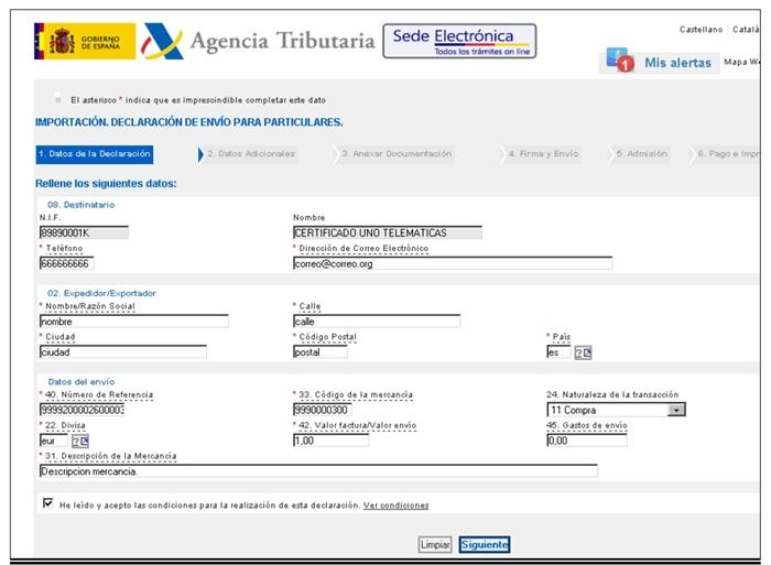 gestión del Dua Agencia Tributaria4