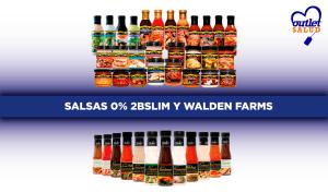 Salsas 0% 2BSlim y Walden Farms para acompañar tus platos