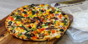 Receta pizza pan lowcarb Lo-Dough