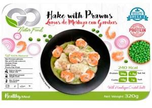 LOMOS DE MERLUZA CON GAMBAS GO NATUR FOOD 320 G