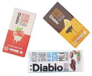 Tabletas de chocolate sin azúcar Diablo en Outletsalud