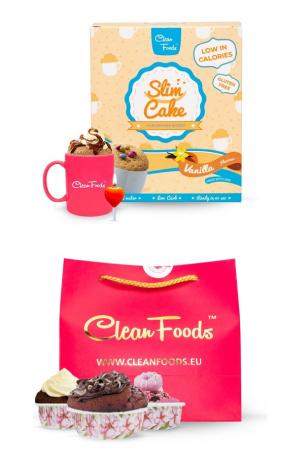 Bizcocho en taza bajo en carbohidratos Slim Cake de Clean Foods en OutletSalud