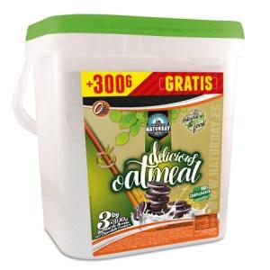 HARINA DE AVENA DELICIOUS OAT MEAL NATURDAY 3 KG + 300 G