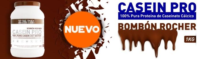 Nuevo Casein Pro 100% Pura Proteína de Caseinato Cálcico con Matriz Activa sabor Bombón Rocher