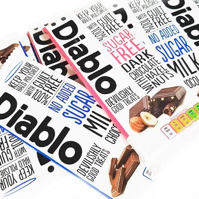 Tabletas de Chocolate sin azúcar añadido de Diablo Sugar Free en Outletsalud