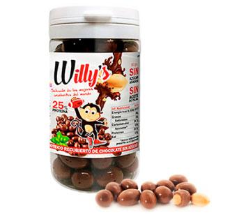Cacahuetes Willy's cubiertos de chocolate Protella en Outletsalud