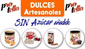 Dulces artesanales sin azúcar añadido Protella en Outletsalud