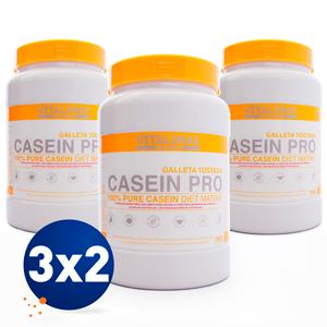 Pack 3 por 2 Casein Pro sabor Galleta Tostada 1KG