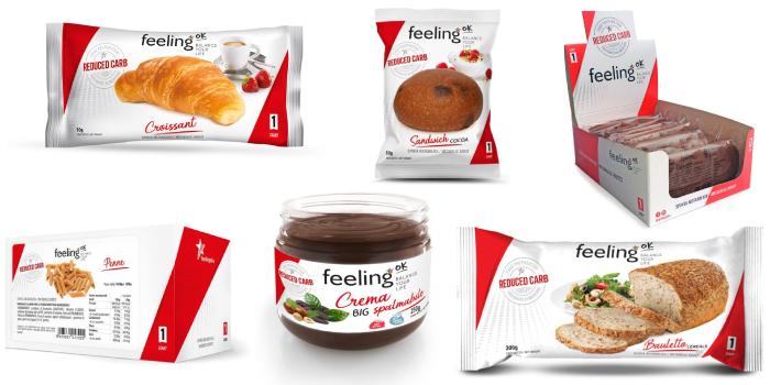 Alimentos bajos en carbohidratos FeelingOk Línea 1 Start